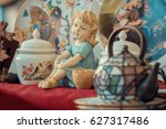 Ceramic Girl Figurine And...