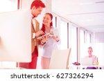 business people using digital... | Shutterstock . vector #627326294