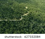 aerial view of jezzine pineland ... | Shutterstock . vector #627332084