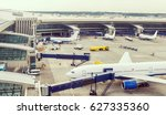 panoramic view of the airport... | Shutterstock . vector #627335360