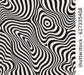 vector monochrome seamless... | Shutterstock .eps vector #627335408
