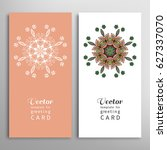 cards or invitations set with... | Shutterstock .eps vector #627337070