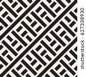 interlacing lines maze lattice. ... | Shutterstock .eps vector #627338930