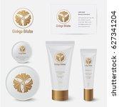 ginkgo biloba cosmetics.... | Shutterstock .eps vector #627341204