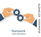 effective teamwork concept.... | Shutterstock .eps vector #627344270