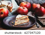 homemade organic apple pie... | Shutterstock . vector #627347120