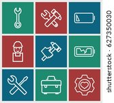 maintenance icons set. set of 9 ... | Shutterstock .eps vector #627350030