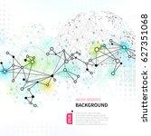 abstract tech background   Shutterstock .eps vector #627351068