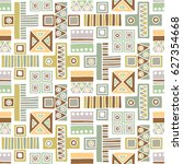 seamless vector pattern.... | Shutterstock .eps vector #627354668