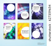 set set circles background...   Shutterstock .eps vector #627359654