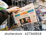 paris  france   april 24  man...   Shutterstock . vector #627360818