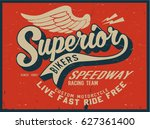 vintage biker graphics and... | Shutterstock .eps vector #627361400