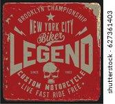 vintage biker graphics and... | Shutterstock .eps vector #627361403