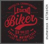 vintage biker graphics and...   Shutterstock .eps vector #627361424