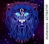 leo zodiac sign  horoscope... | Shutterstock .eps vector #627363749