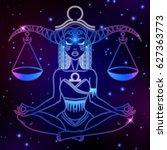 libra zodiac sign  horoscope... | Shutterstock .eps vector #627363773