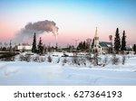 view of downtown fairbanks... | Shutterstock . vector #627364193