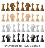 Wooden Chess Set On White