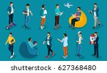 trendy isometric vector people  ... | Shutterstock .eps vector #627368480