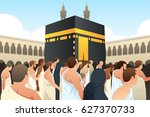 a vector illustration of muslim ...   Shutterstock .eps vector #627370733