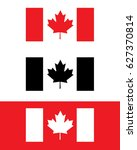 vector canadian flag set | Shutterstock .eps vector #627370814