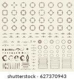 circle and square wicker... | Shutterstock .eps vector #627370943