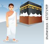 a vector illustration of muslim ... | Shutterstock .eps vector #627371909