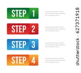 one two three four step | Shutterstock .eps vector #627371918