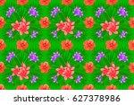 raster illustration. romantic... | Shutterstock . vector #627378986
