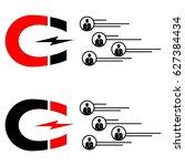 magnet. ideas. lead. generation   Shutterstock .eps vector #627384434