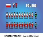 poland football soccer player... | Shutterstock .eps vector #627389663