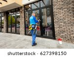 window washer working  wash... | Shutterstock . vector #627398150