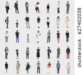 diversity people set gesture... | Shutterstock . vector #627402038