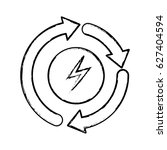 recycle energy arrows icon | Shutterstock .eps vector #627404594