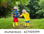 little boy and girl play in... | Shutterstock . vector #627405599