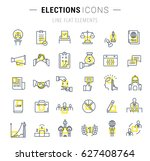 set  line icons with open path... | Shutterstock . vector #627408764