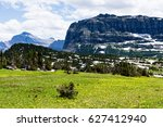 alpine scenery at logan pass in ... | Shutterstock . vector #627412940