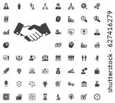 friendly handshake icon on the... | Shutterstock .eps vector #627416279