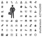businessman black web icon.... | Shutterstock .eps vector #627416300