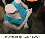grey manikins on a women shop.   Shutterstock . vector #627416924