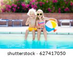 kids playing at outdoor... | Shutterstock . vector #627417050