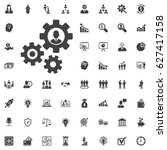 human settings icon vector on... | Shutterstock .eps vector #627417158