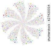 arrow direction fireworks swirl ... | Shutterstock .eps vector #627420314