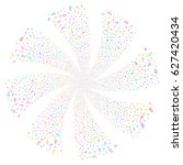 arrow fireworks swirl rotation. ... | Shutterstock .eps vector #627420434