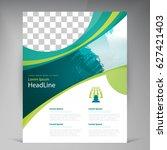 vector abstract template design ... | Shutterstock .eps vector #627421403
