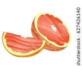 isolated pair of grapefruit... | Shutterstock .eps vector #627426140