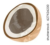 isolated cut of a coconut ... | Shutterstock .eps vector #627426230