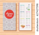 menu template for asian food | Shutterstock .eps vector #627427598