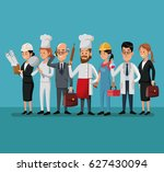 group people various... | Shutterstock .eps vector #627430094