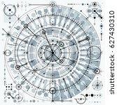 mechanical scheme  engineering... | Shutterstock . vector #627430310
